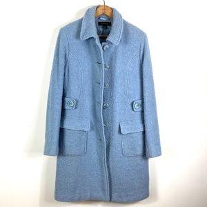 Static | Light Blue Button Down Coat